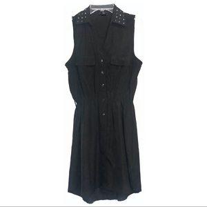 Black Light Summer Dress Button-down, Studded